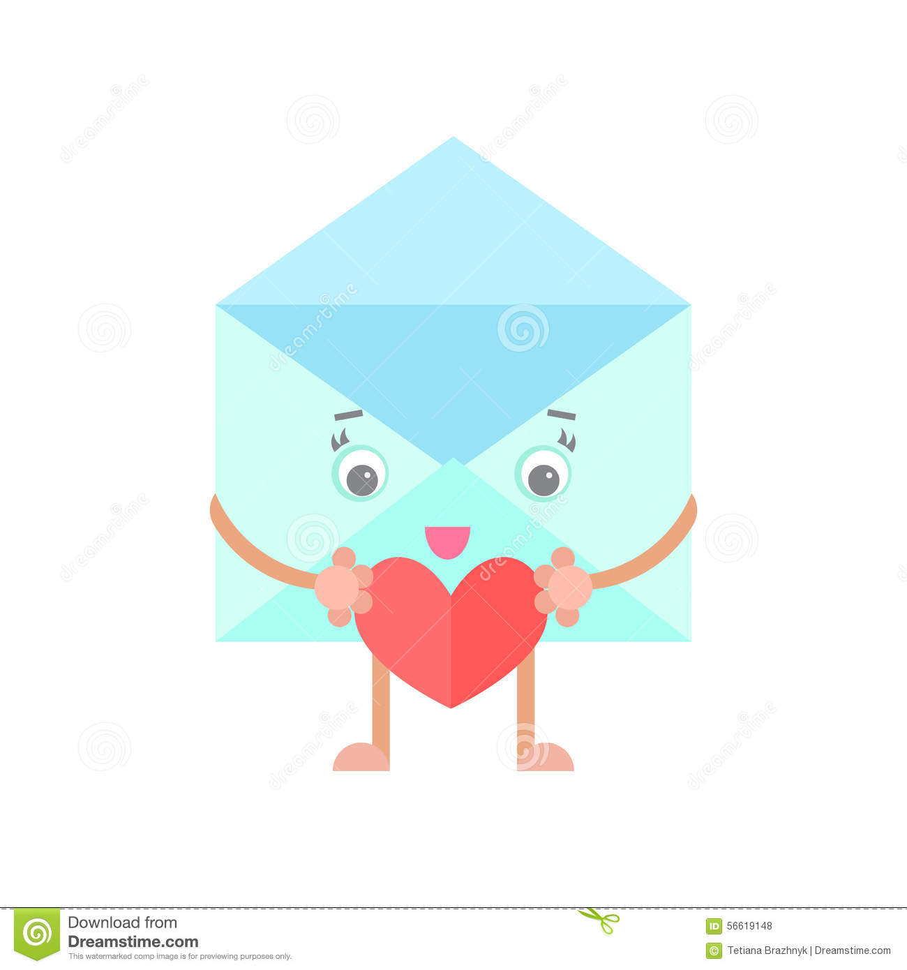 9 Letter Cartoon Characters : Envelope mail cartoon character heart stock vector image