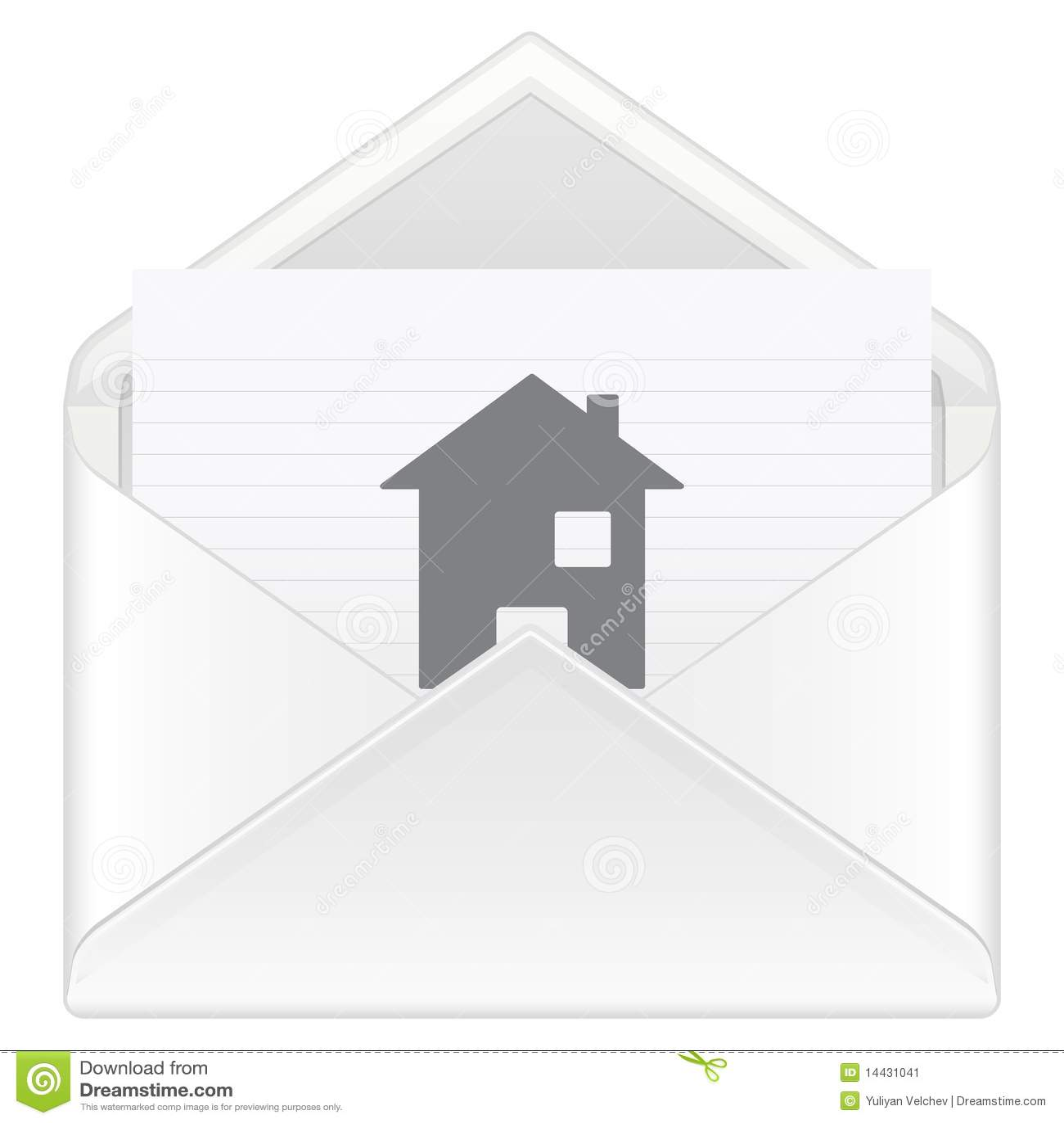 Envelope Mail House Stock Image Image 14431041