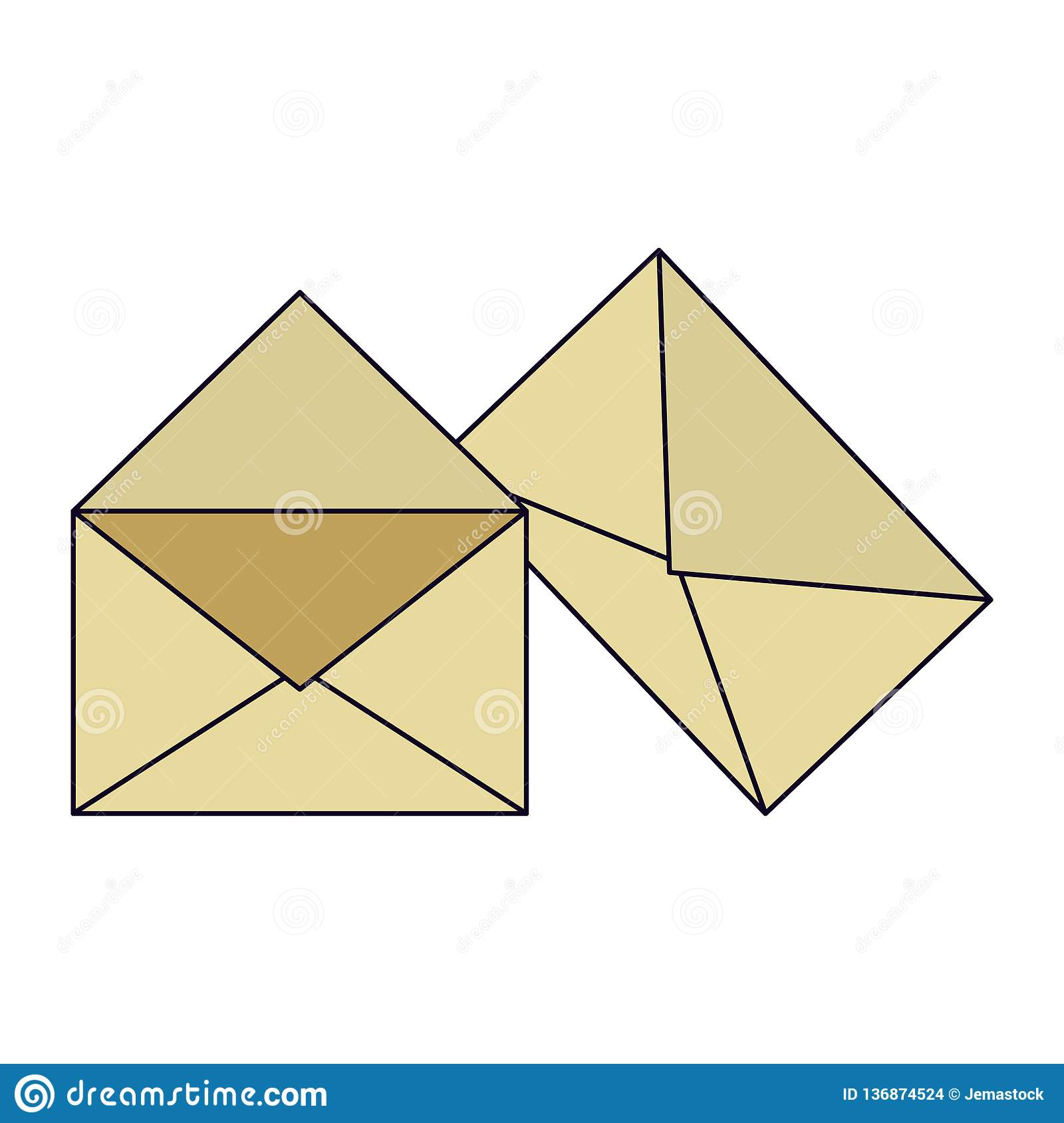 Envelope and mails