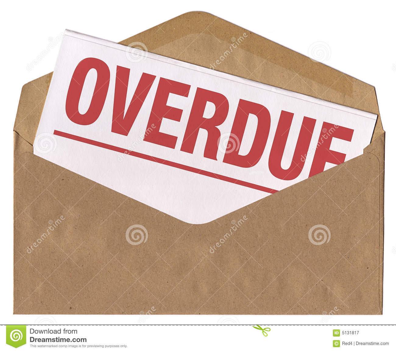 envelope overdue notice letter royalty free stock photography