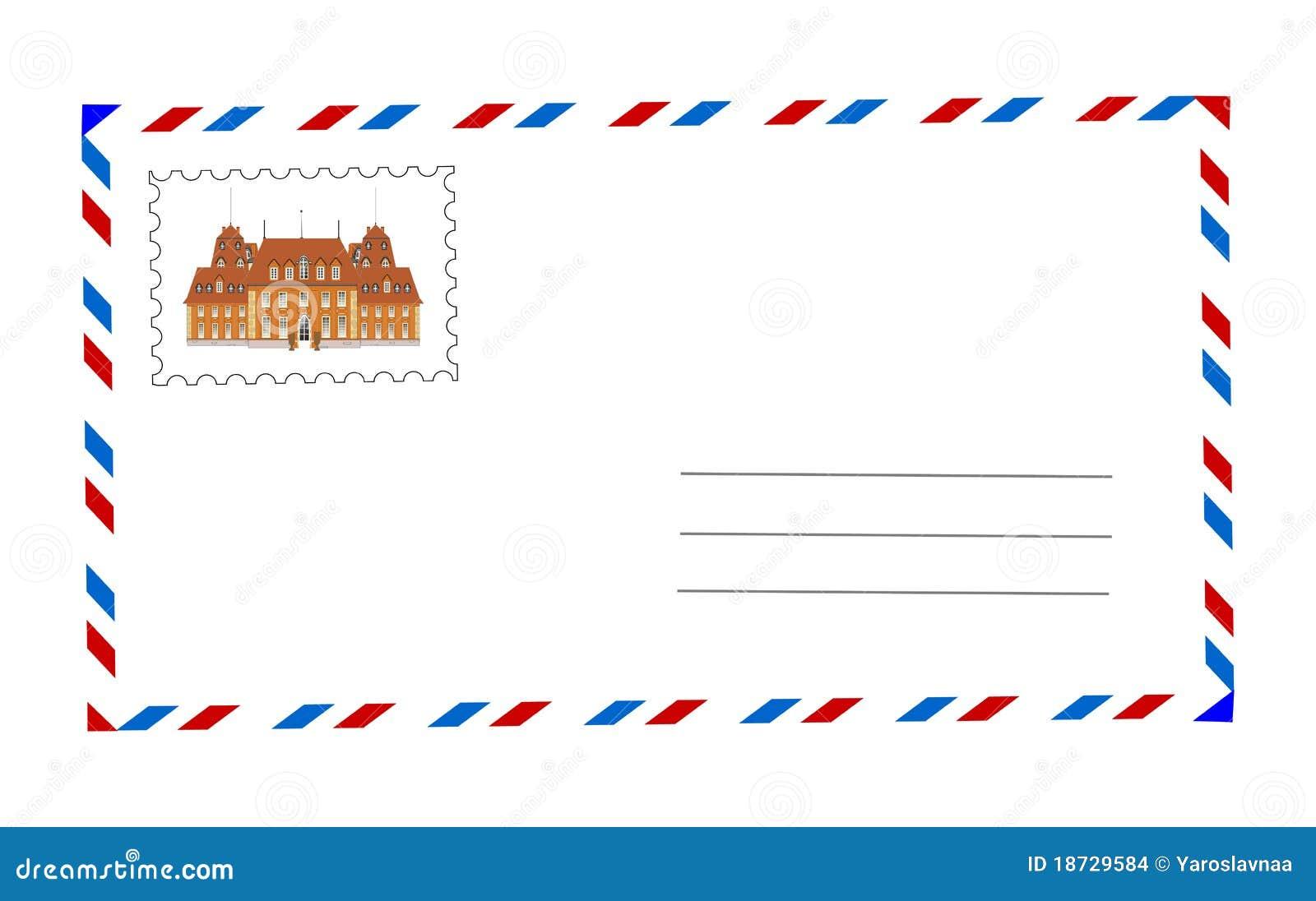 Envelope And Postage Stamp Illustration Stock Images - Image: 18729584