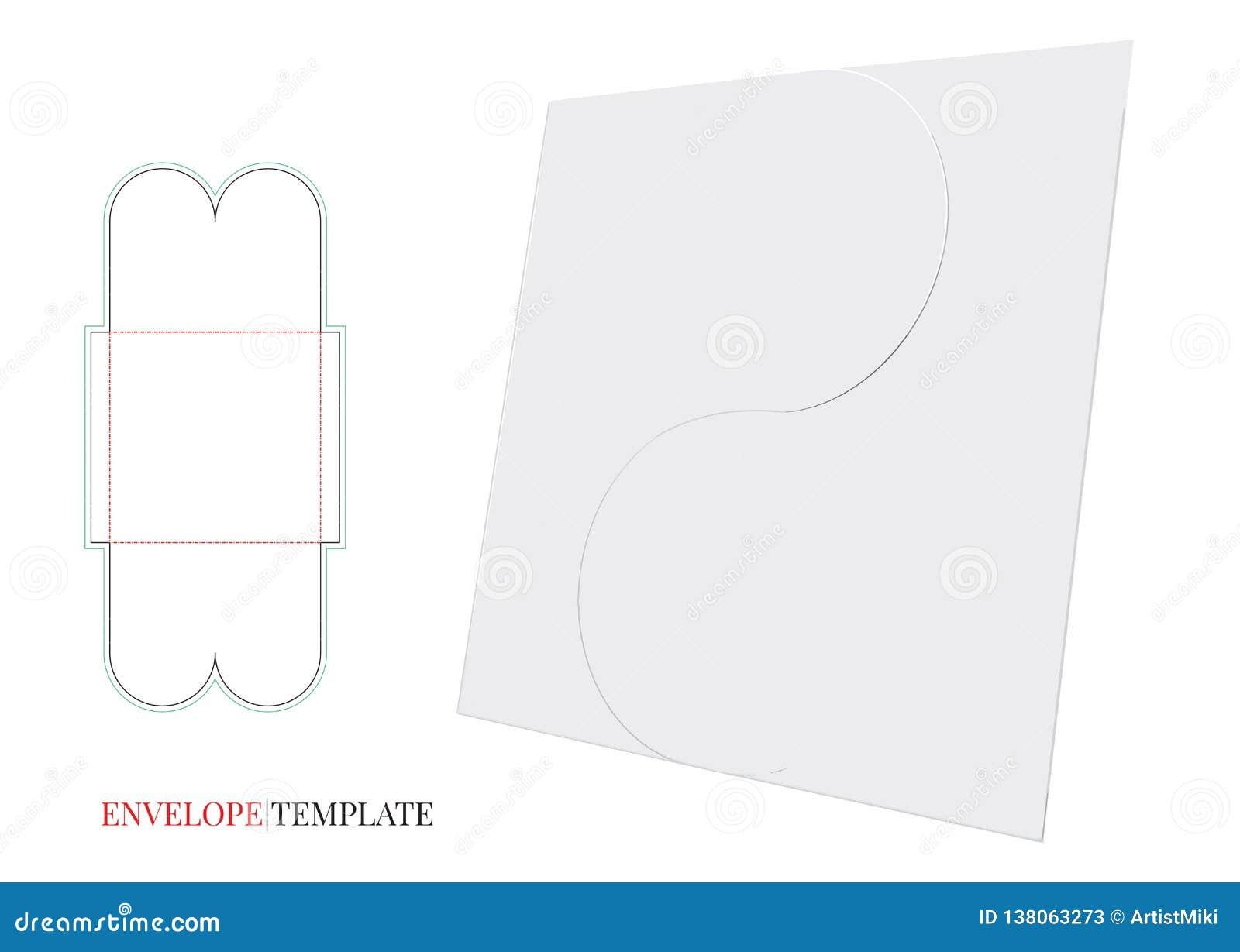 Envelope Template with die line, Vector Envelope Design