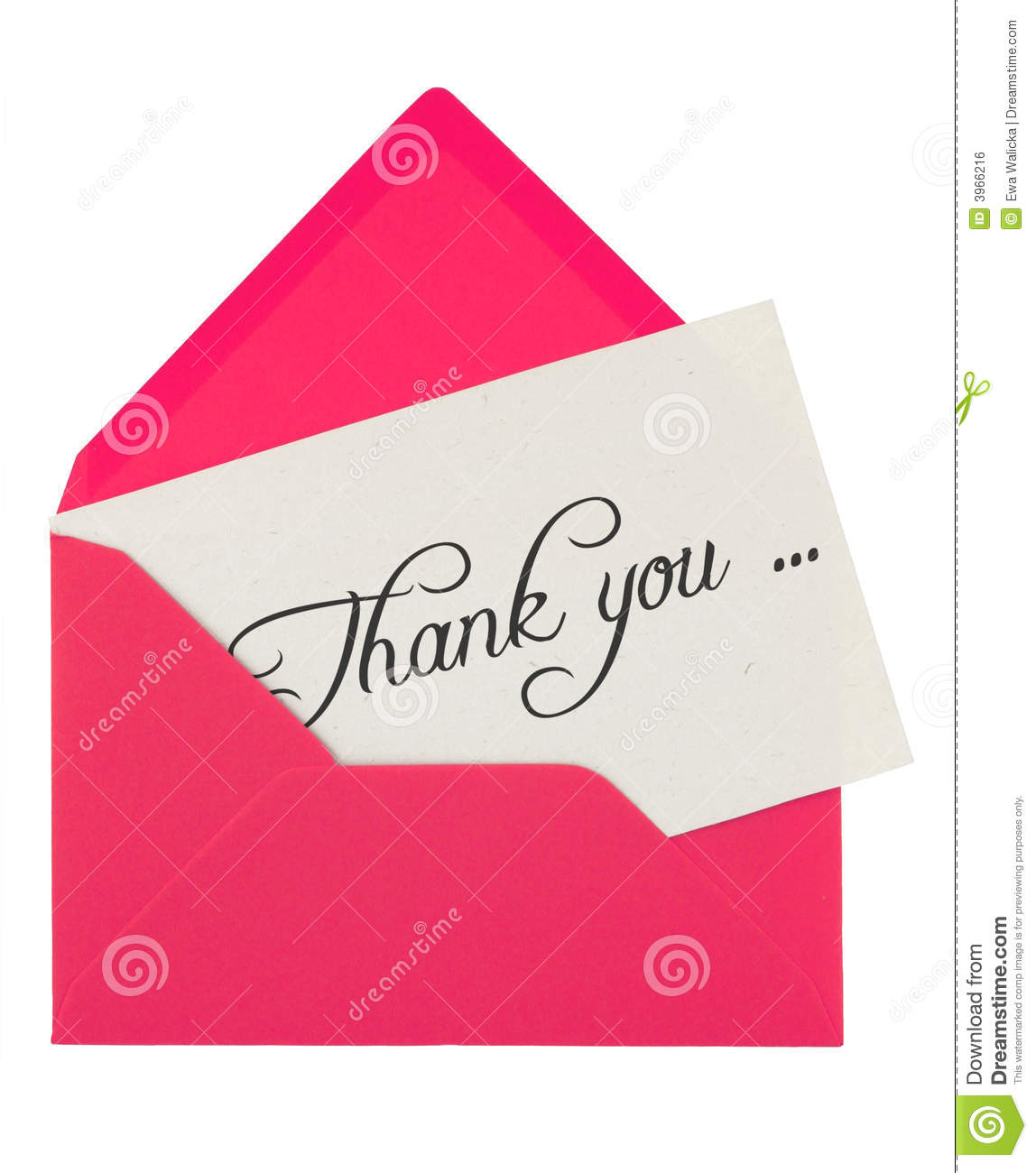Envelope And Thank You Note Stock Photo Image Of Thank Blue 3966216