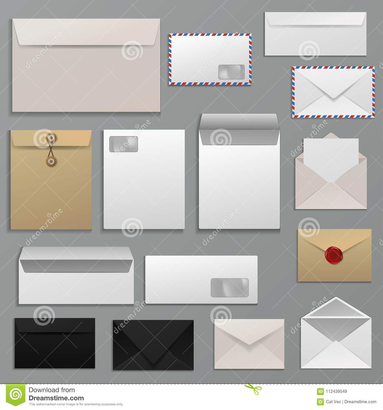 Envelope Vector Blank Of Letter On Paper Mailing To Postal Mailers