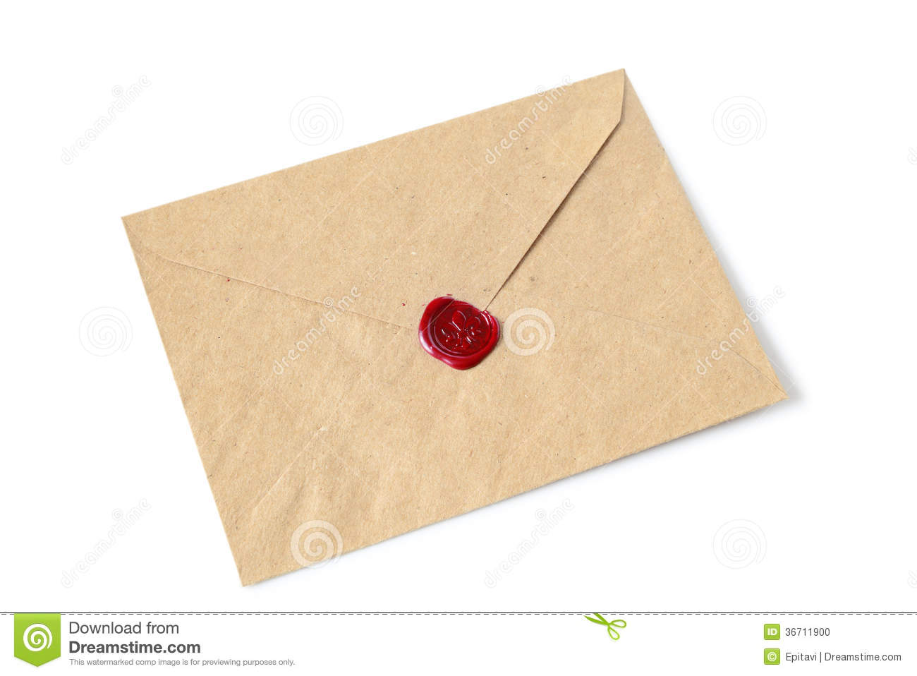 Envelope With Wax Seal Stock Photo Image 36711900