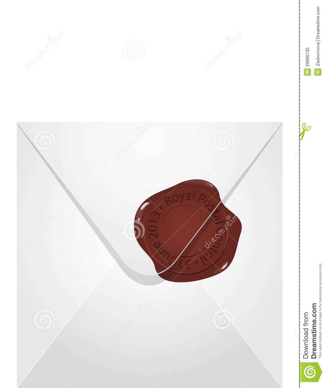 how to put a wax seal on an envelope