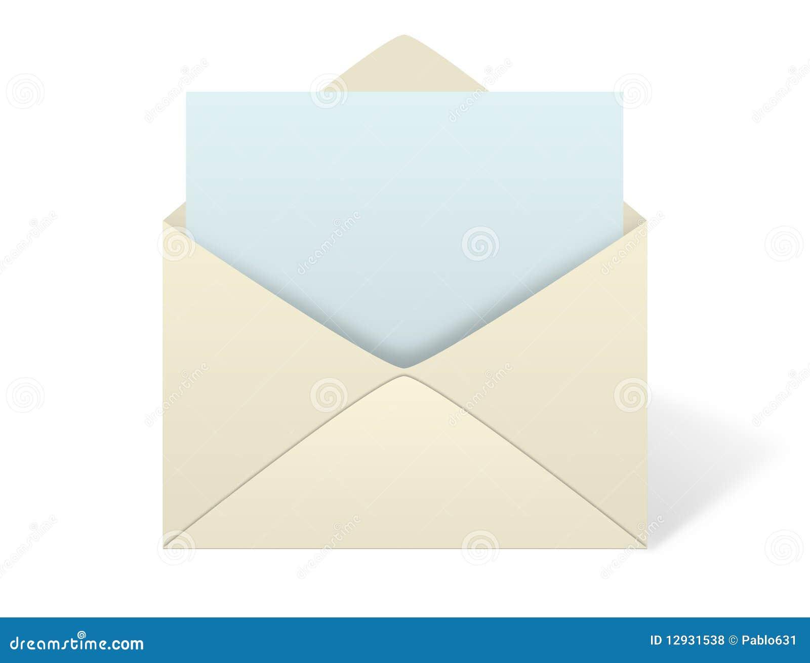 Envelope On White Background Stock Illustration