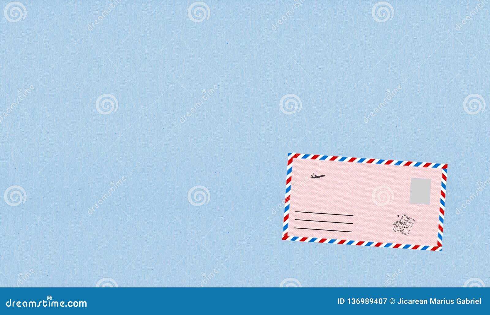 Envelopes cor-de-rosa com grânulo