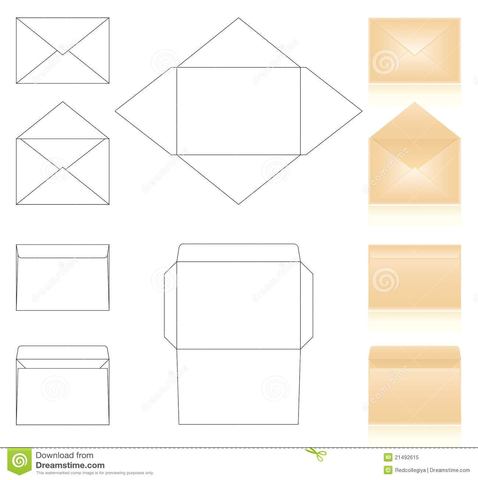 Envelopes templates stock vector. Illustration of corporative - 21492615