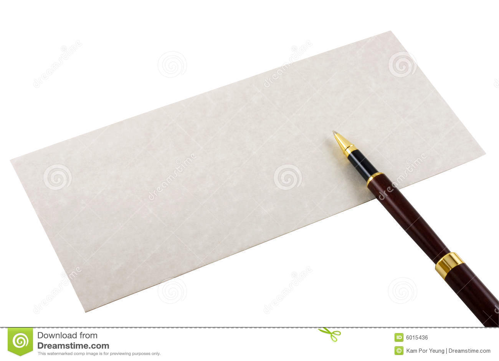 Enveloppe et crayon lecteur