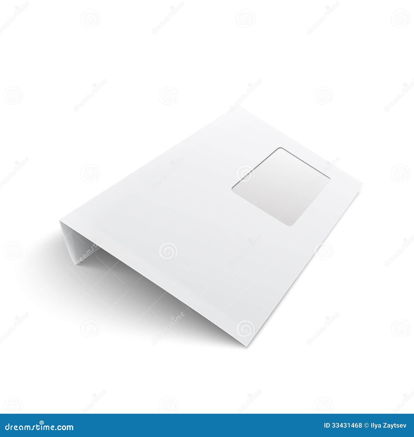 Enveloppe vide avec la fen tre sur le fond blanc photos for Enveloppe c4 avec fenetre