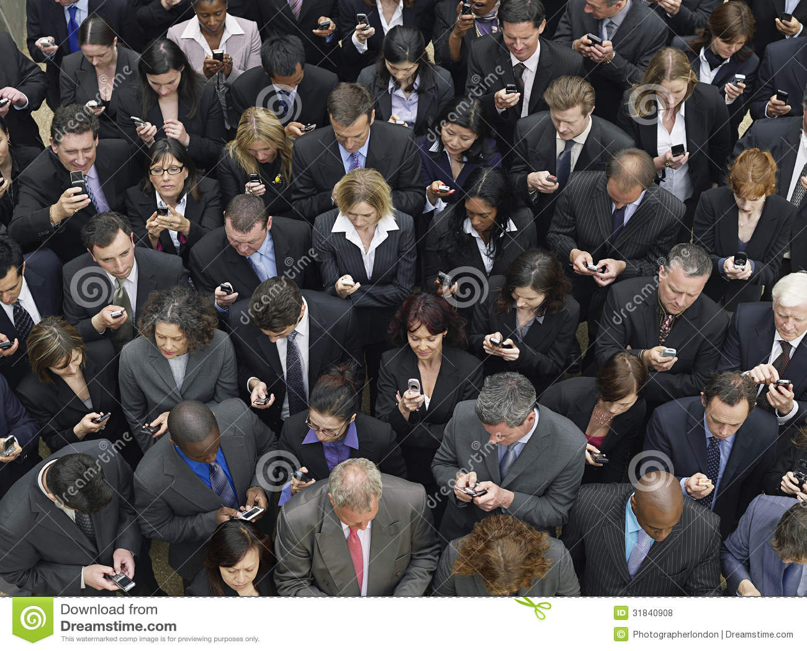 Envio de mensagem de texto da unidade de negócio com telefones celulares