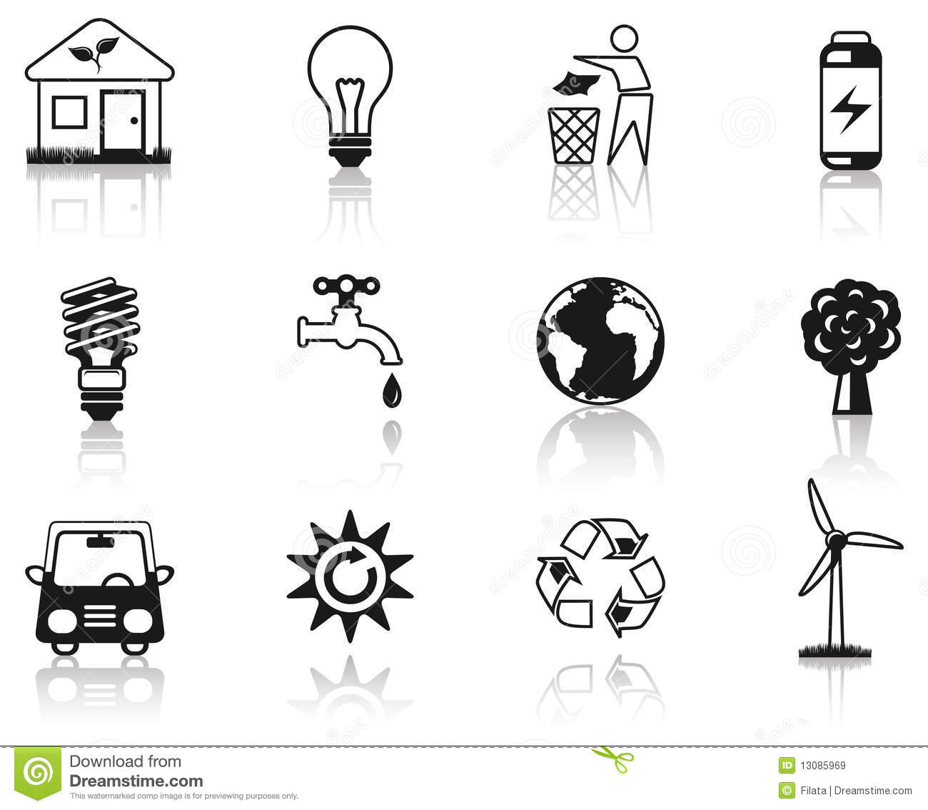 environment black icon set  royalty free stock images