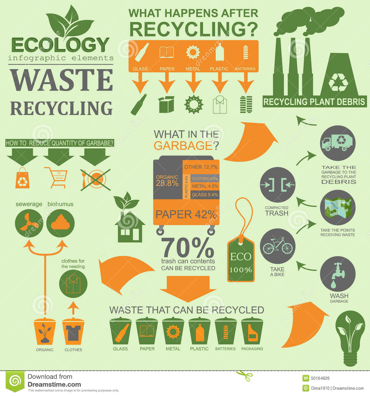 Environmental infographic template