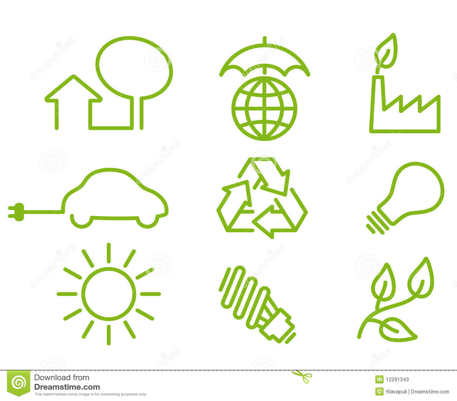 Environment Protection Icons Stock Photos