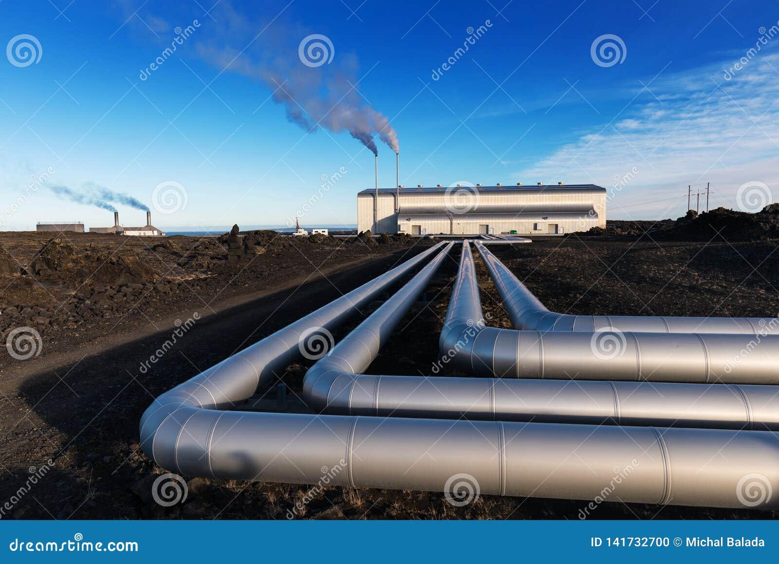 Environmental Heat Energy Station On The Underground Hot