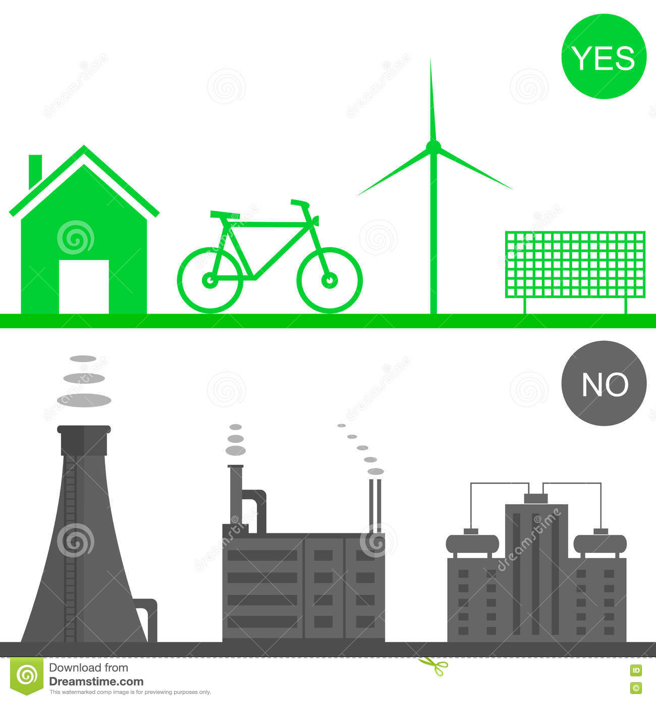 Battery Environmental Pollution Royalty Free Stock Image