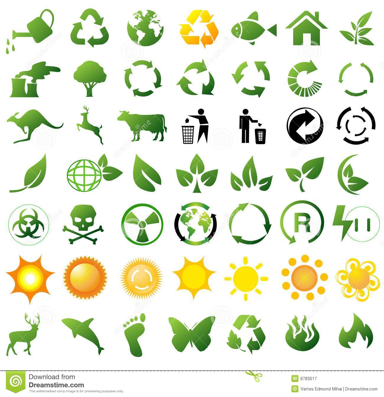 Environmental Recycling Icons Royalty Free Stock