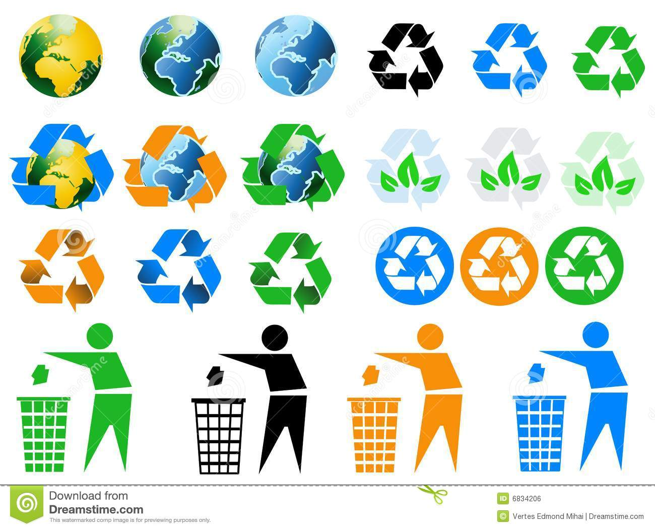 environmental recycling icons royalty free stock image