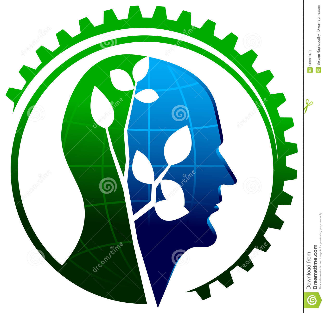 environmental thinking stock vector