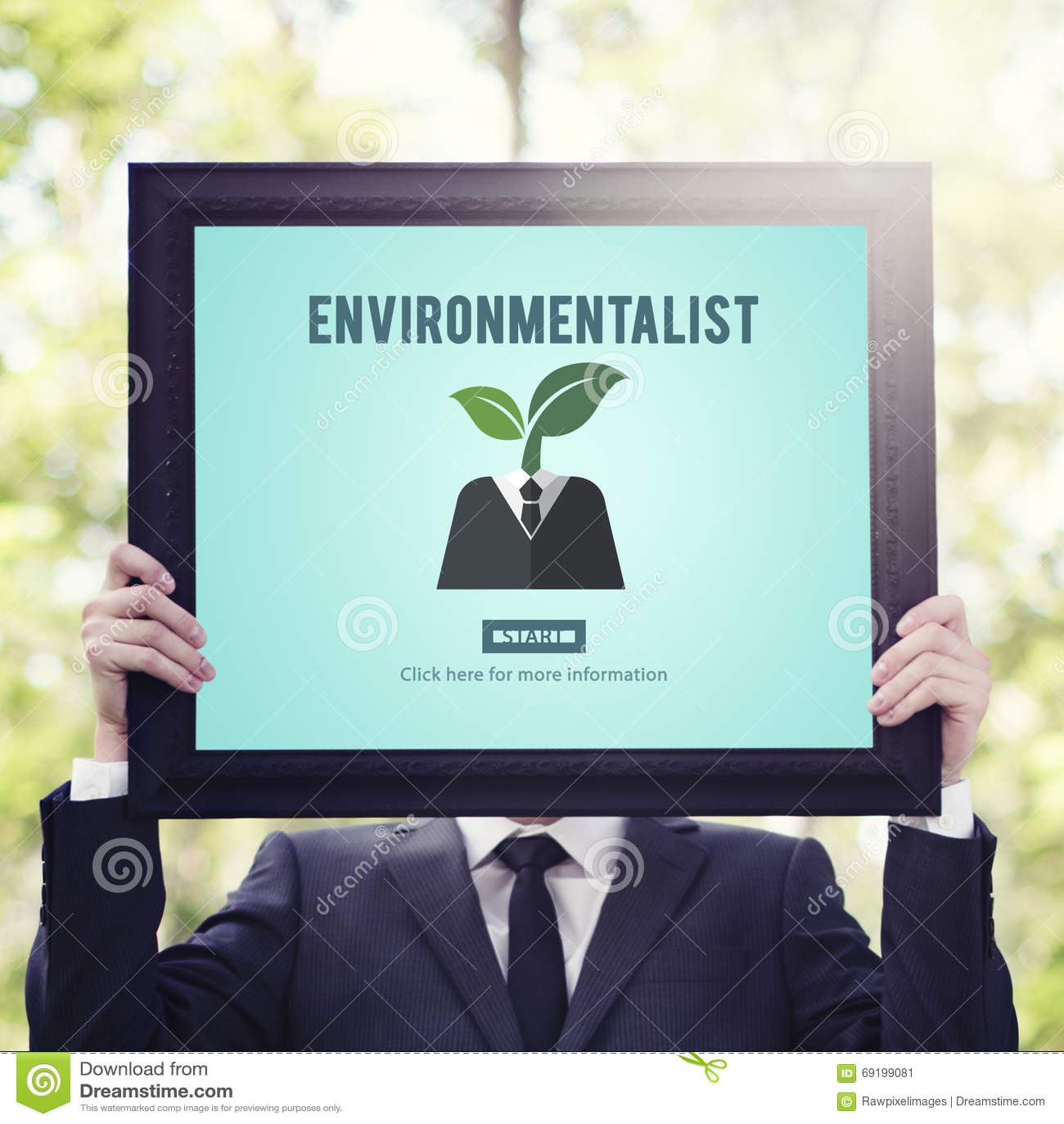 Environmentalist Ecologist Nature Conservationist Concept