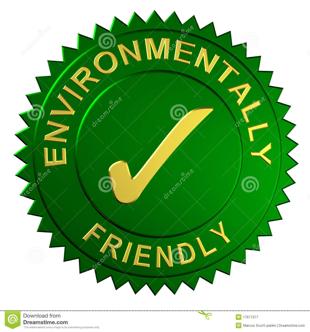 Environmentally Friendly Seal Royalty Free Stock Photography - Image ...