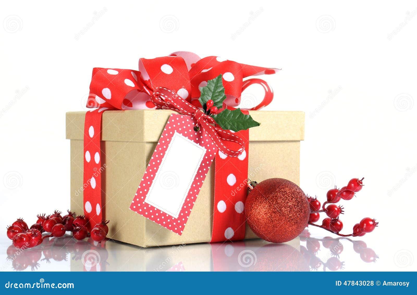 Envoltorio para regalos de la navidad con la caja de - Regalos economicos de navidad ...