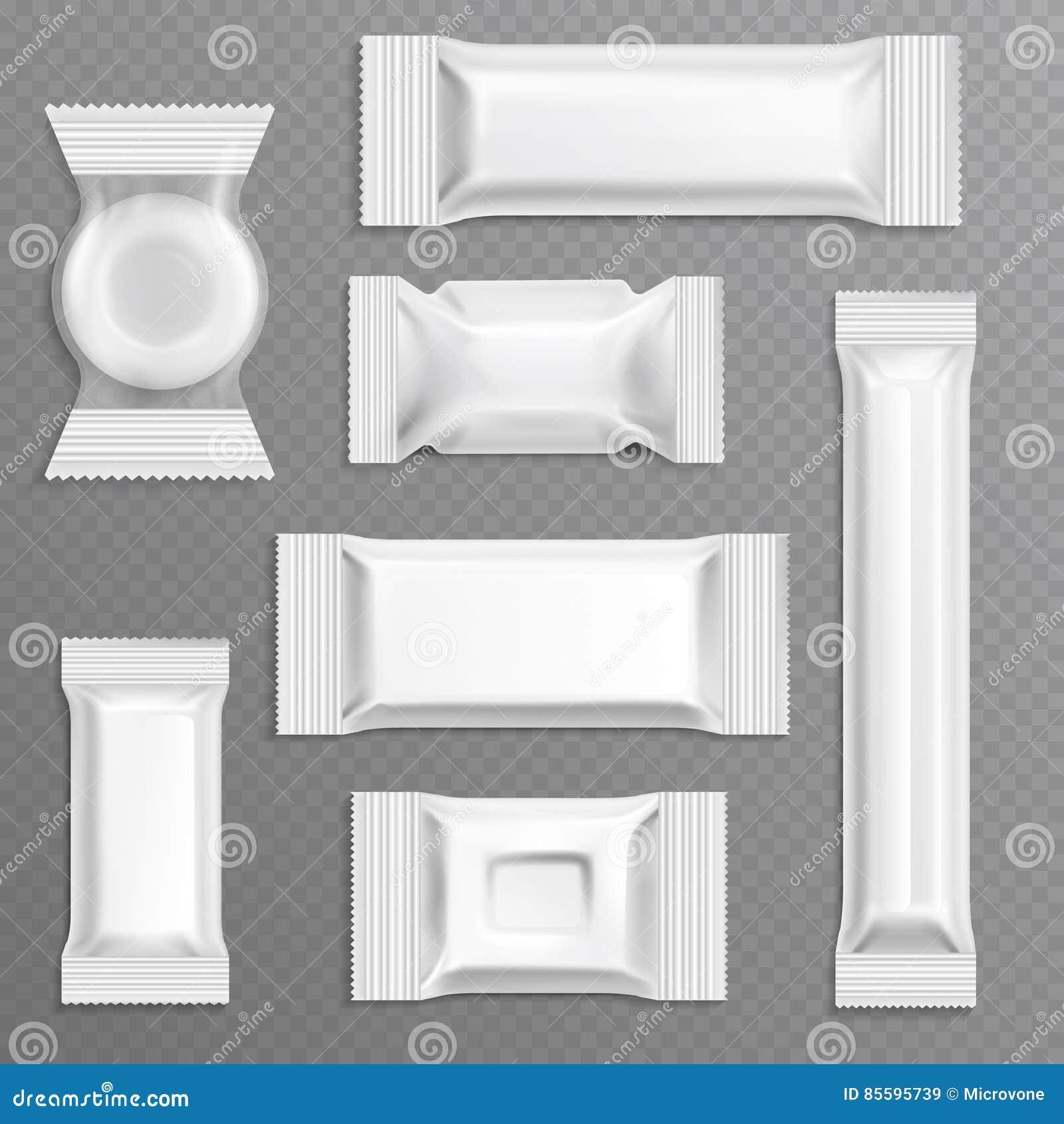 Envoltura Vacía Blanca Que Empaqueta, Sistema Del Polietileno De La ...