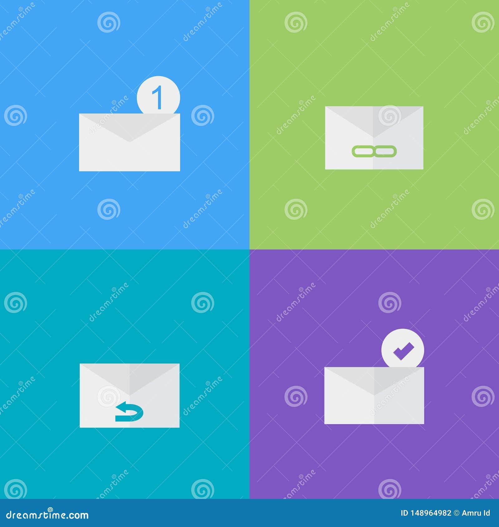 Envoyez à icône l illustration plate de style - vecteur