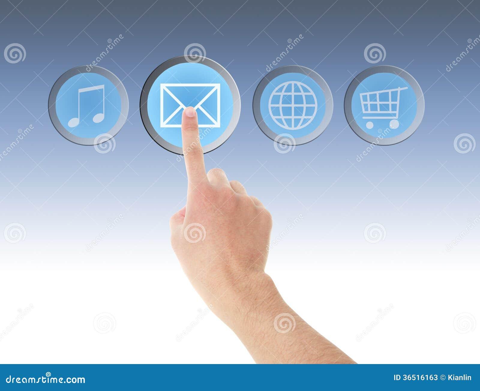 Envoyez le menu d écran tactile d ordinateur d icône et le remettez
