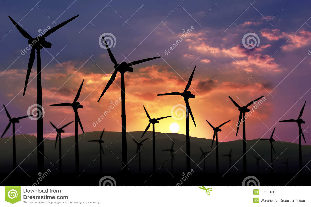 Eolian farm renewable energy