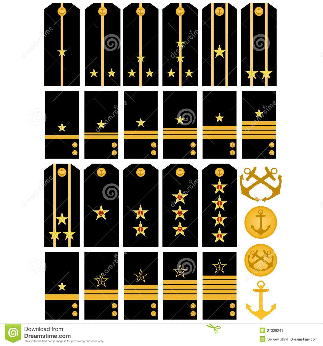 Epaulets And Stripes Navy Russian Army Stock Vector ...