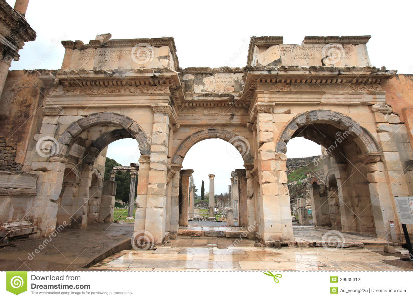 Ephesus Ruins Turkey Stock Photo Image Of Landmark