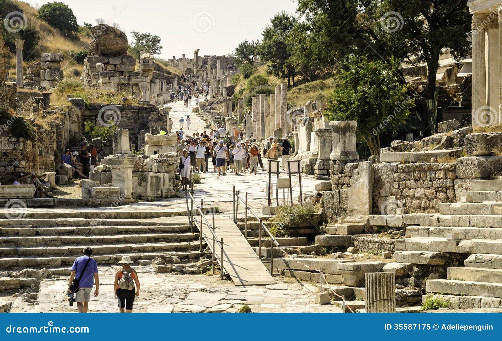 Ephesus Ancient Ruins Turkey Editorial Image Image