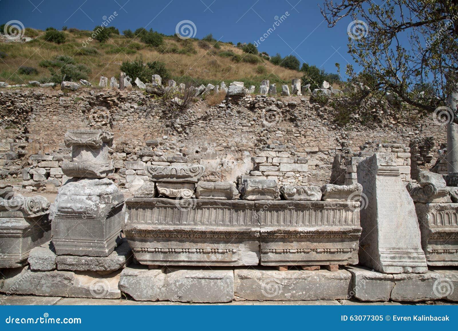 Download Ephesus antique de ville image stock. Image du archéologique - 63077305