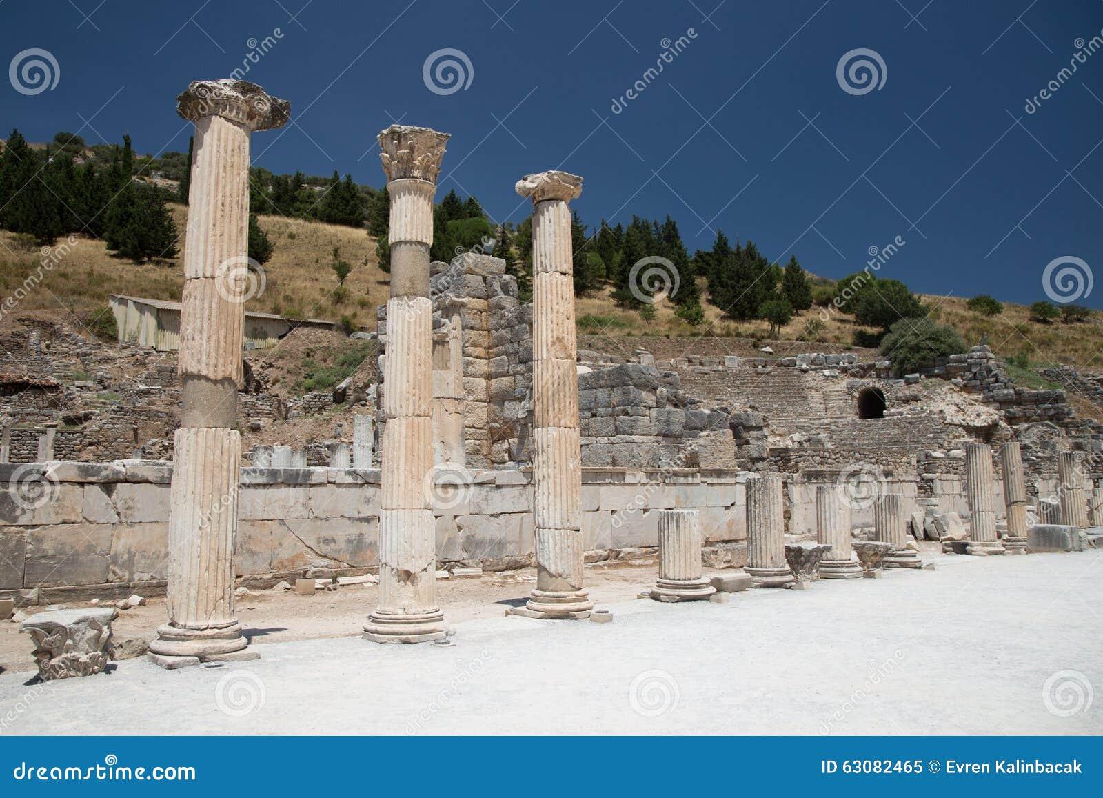 Download Ephesus antique de ville image stock. Image du hellénistique - 63082465