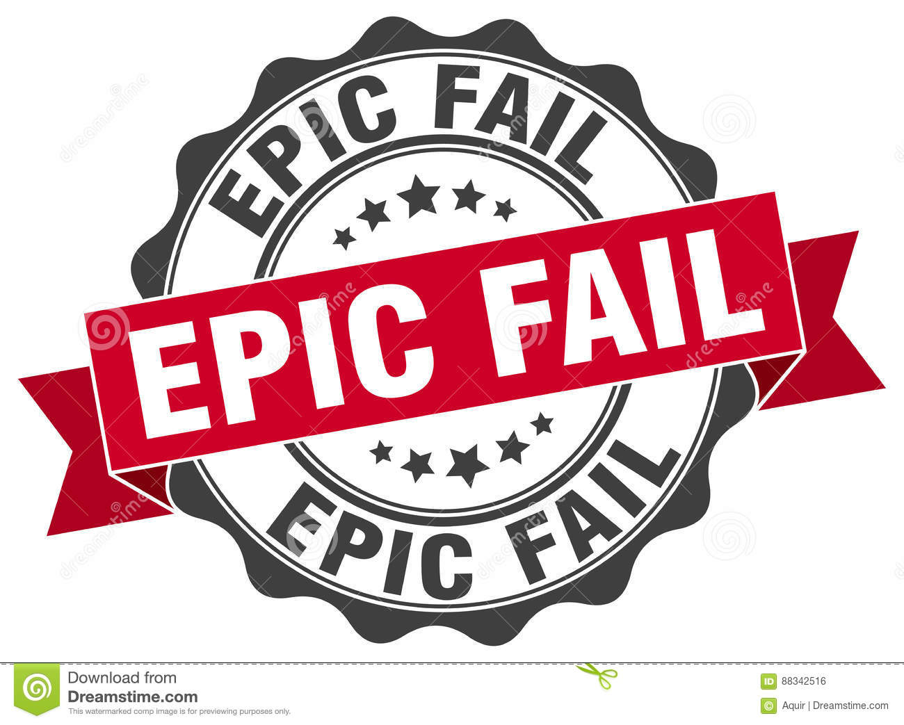 epic fail stamp stock vector illustration of fail badge 88342516