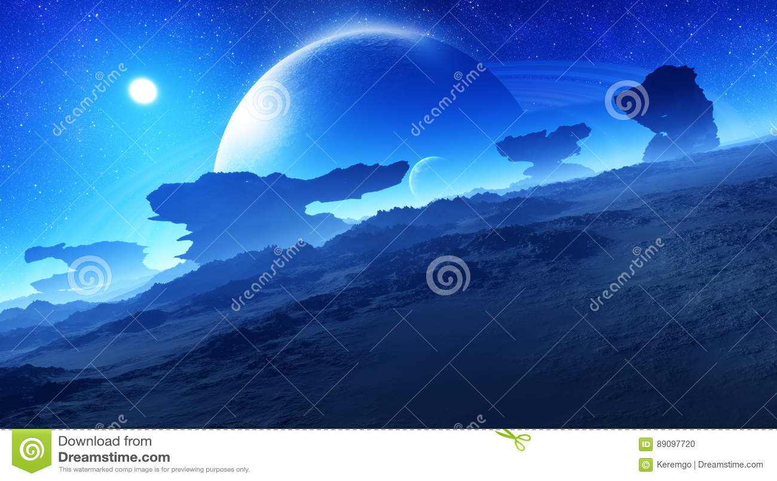 Epicka Chwalebnie Obca planety noc