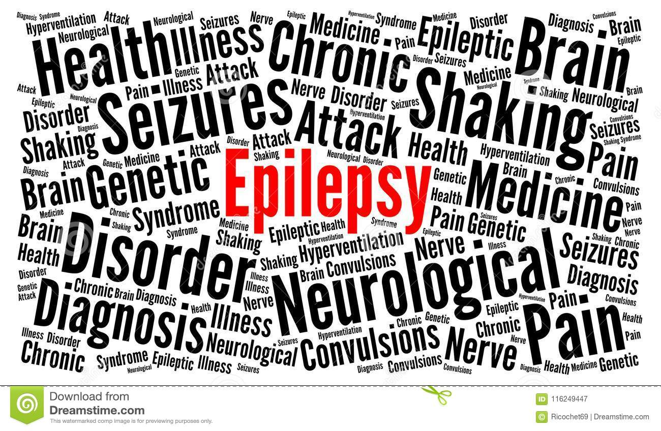 Epilepsy word cloud concept