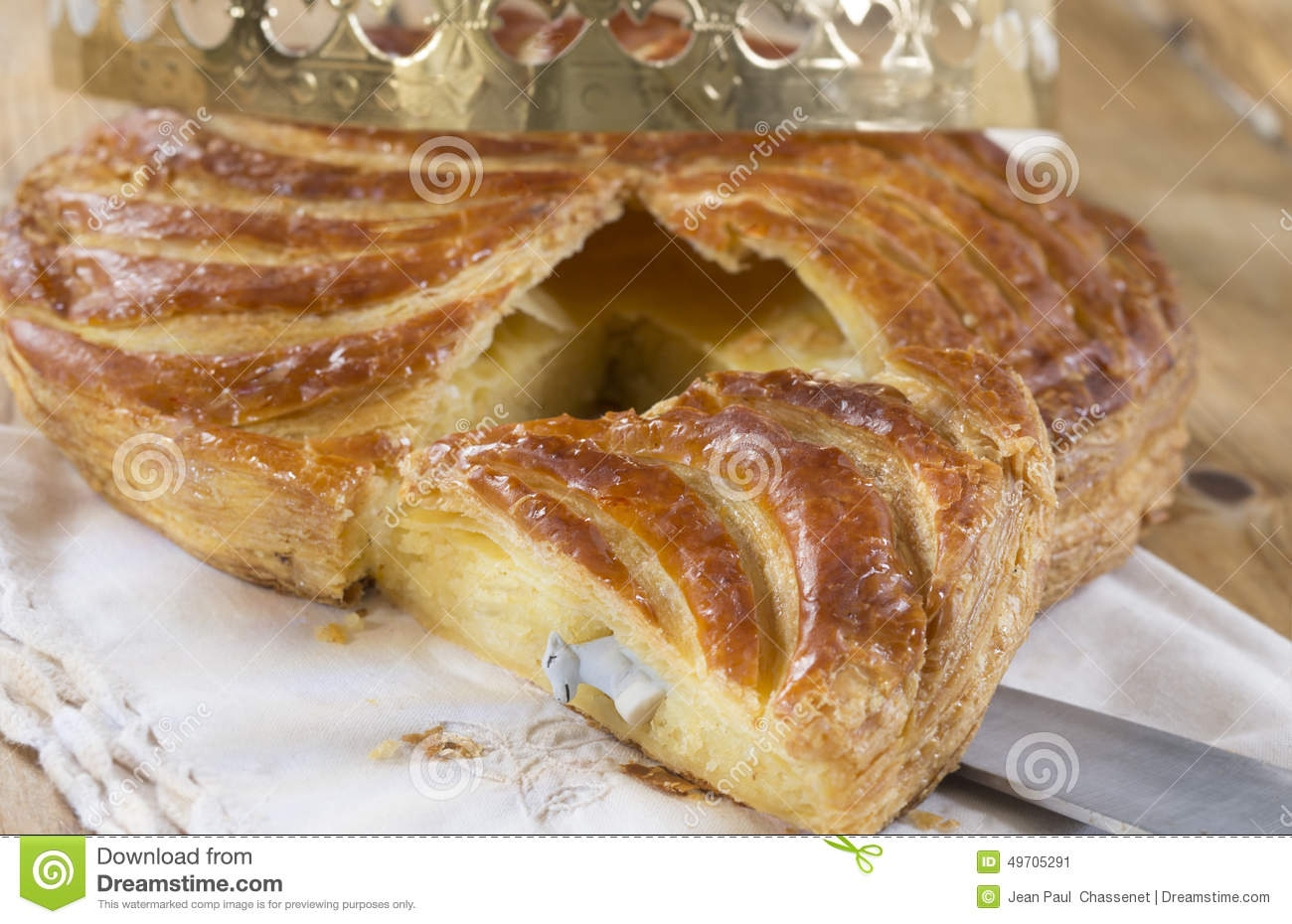 Epiphany Cake Galette Des Rois , King Cake Stock Photo - Image ...