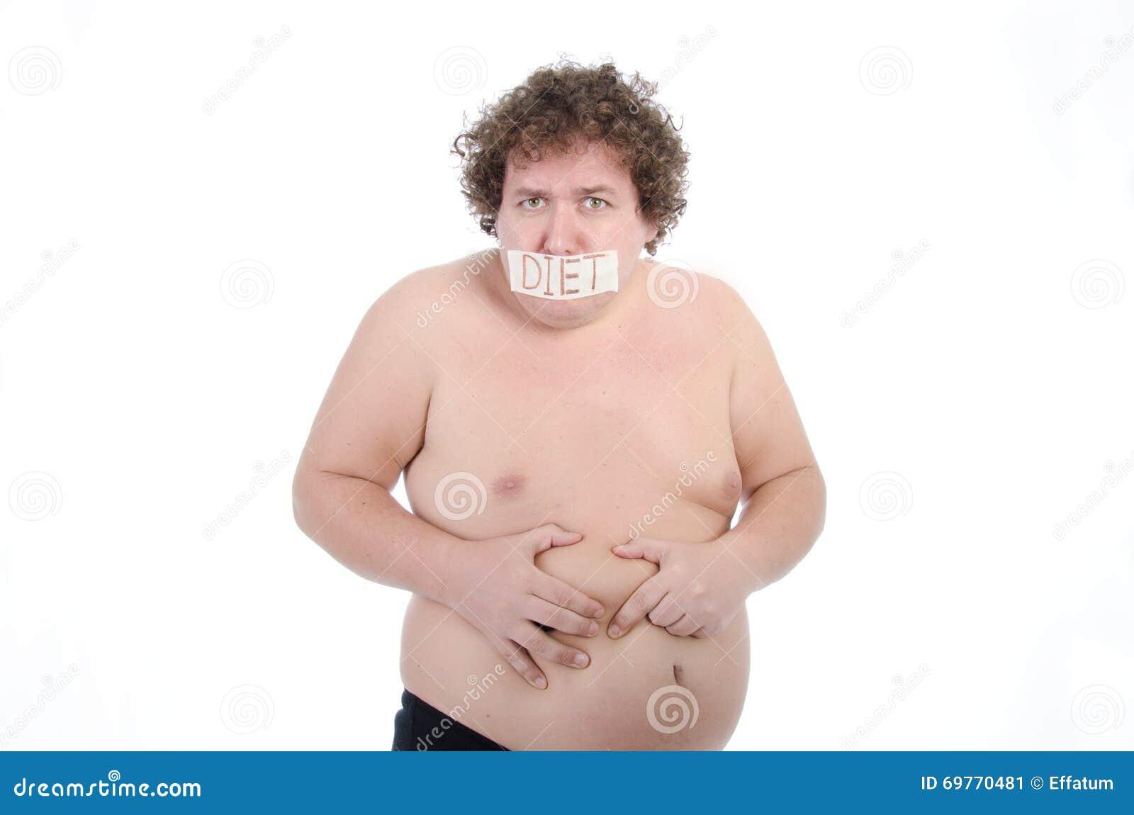 Dicker Mann Nackt