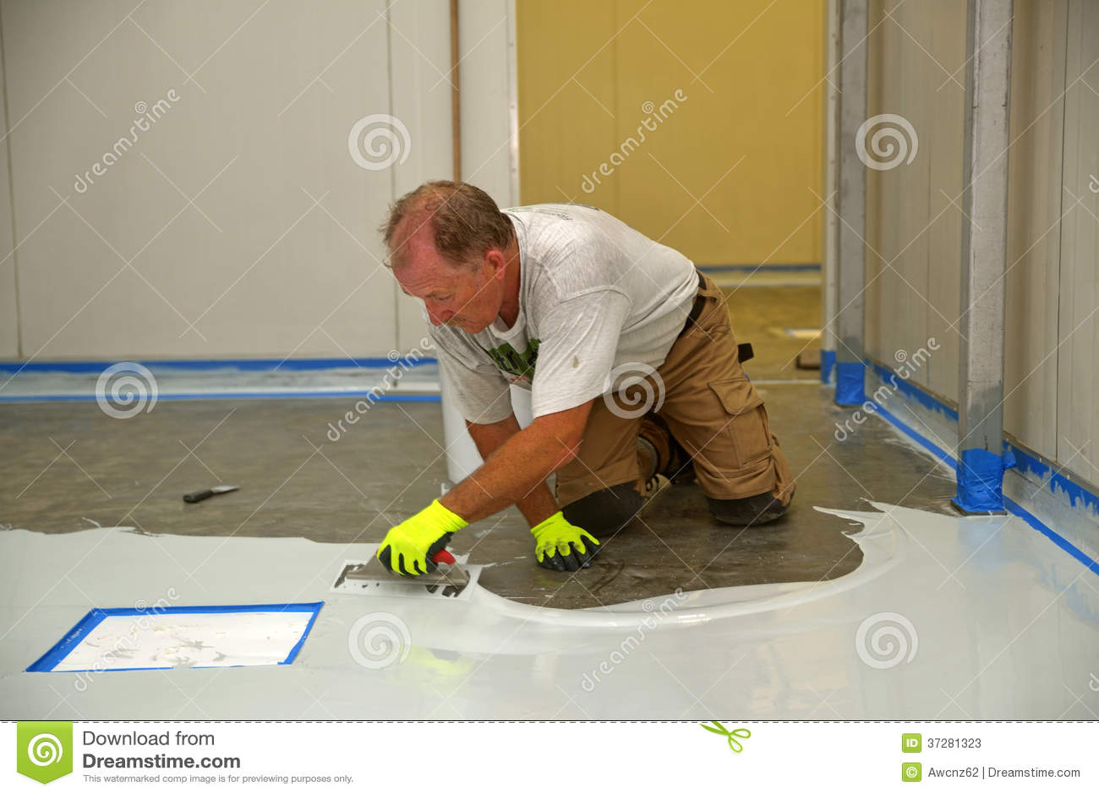 Epoxyyttersida för golv