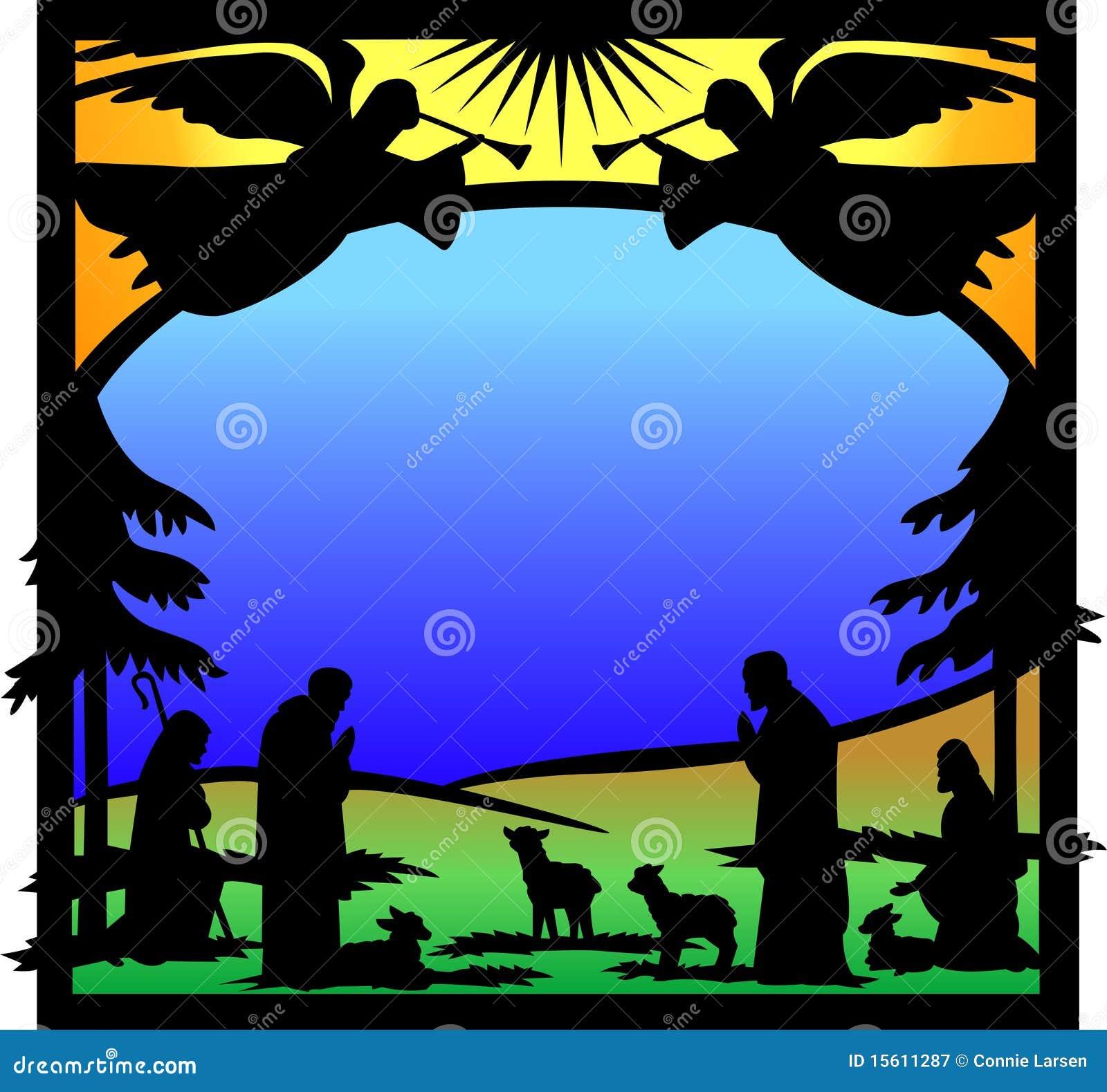 Eps αγγέλων σκιαγραφία nativity