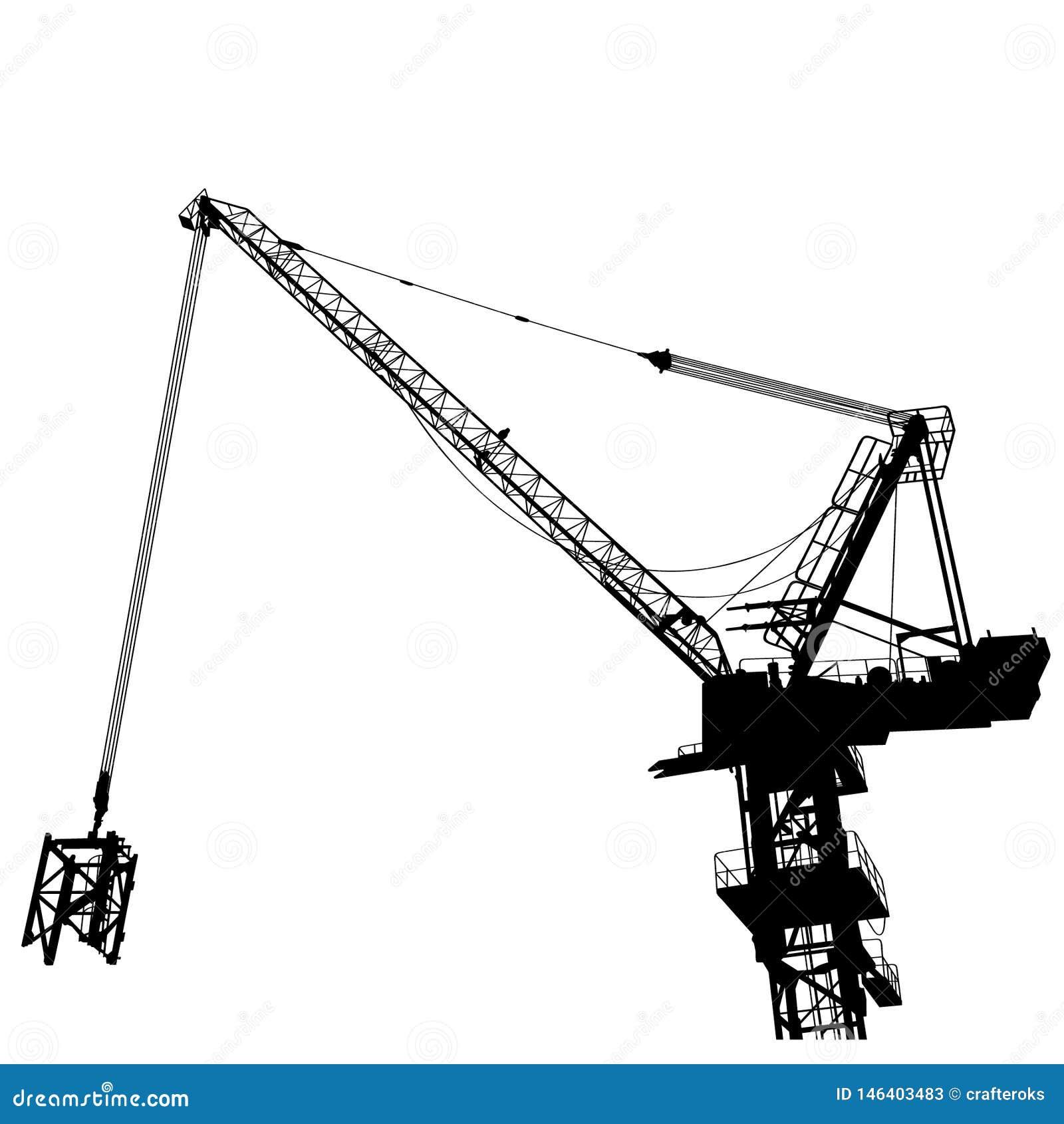 Eps γερανών κατασκευής διανυσματική απεικόνιση από τα crafteroks