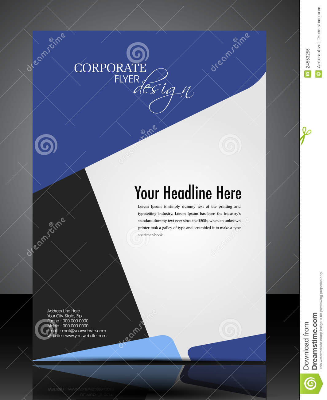 eps 10 professional corporate flyer design stock vector
