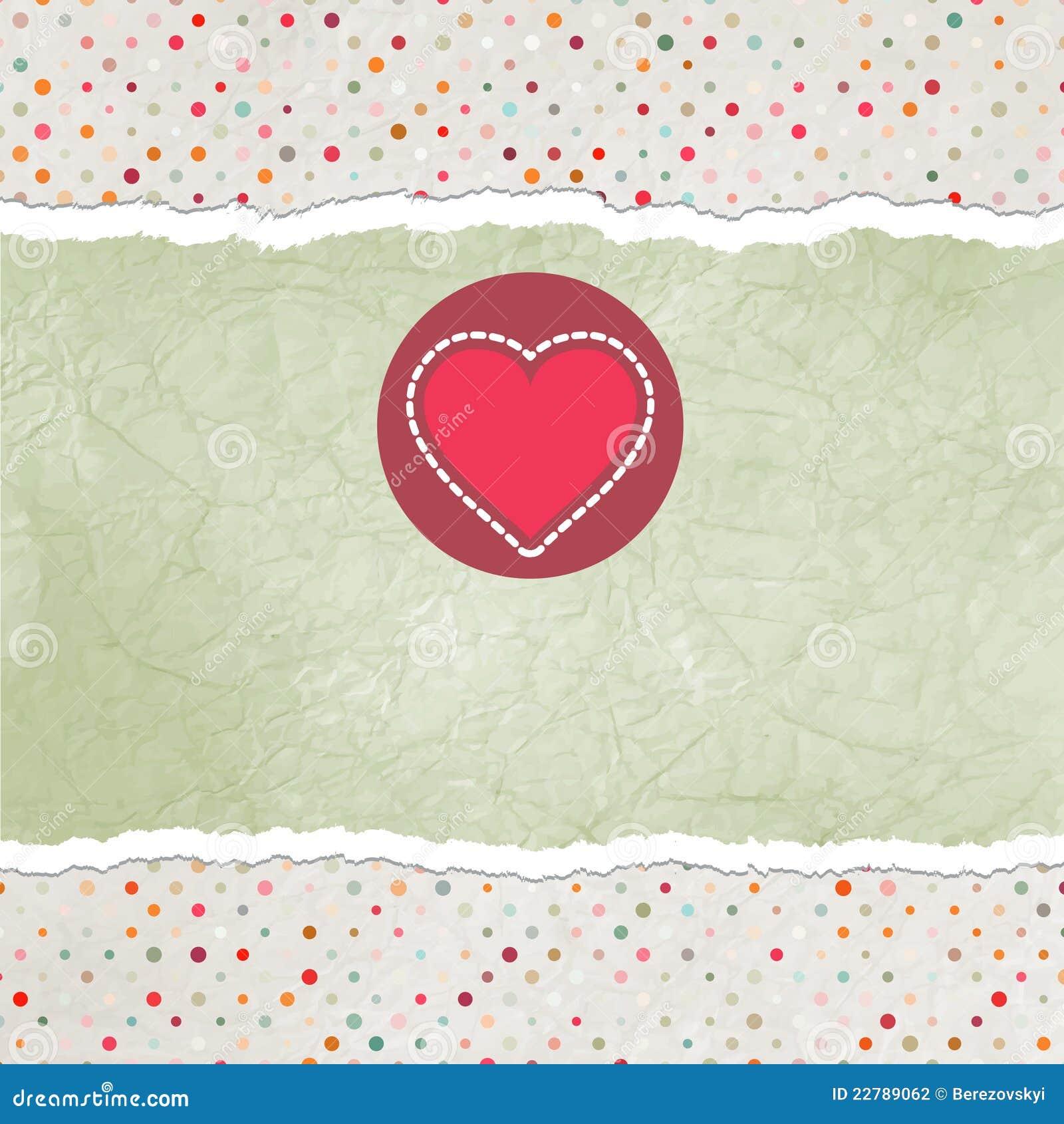 Eps 8 καρτών βαλεντίνος καρδι