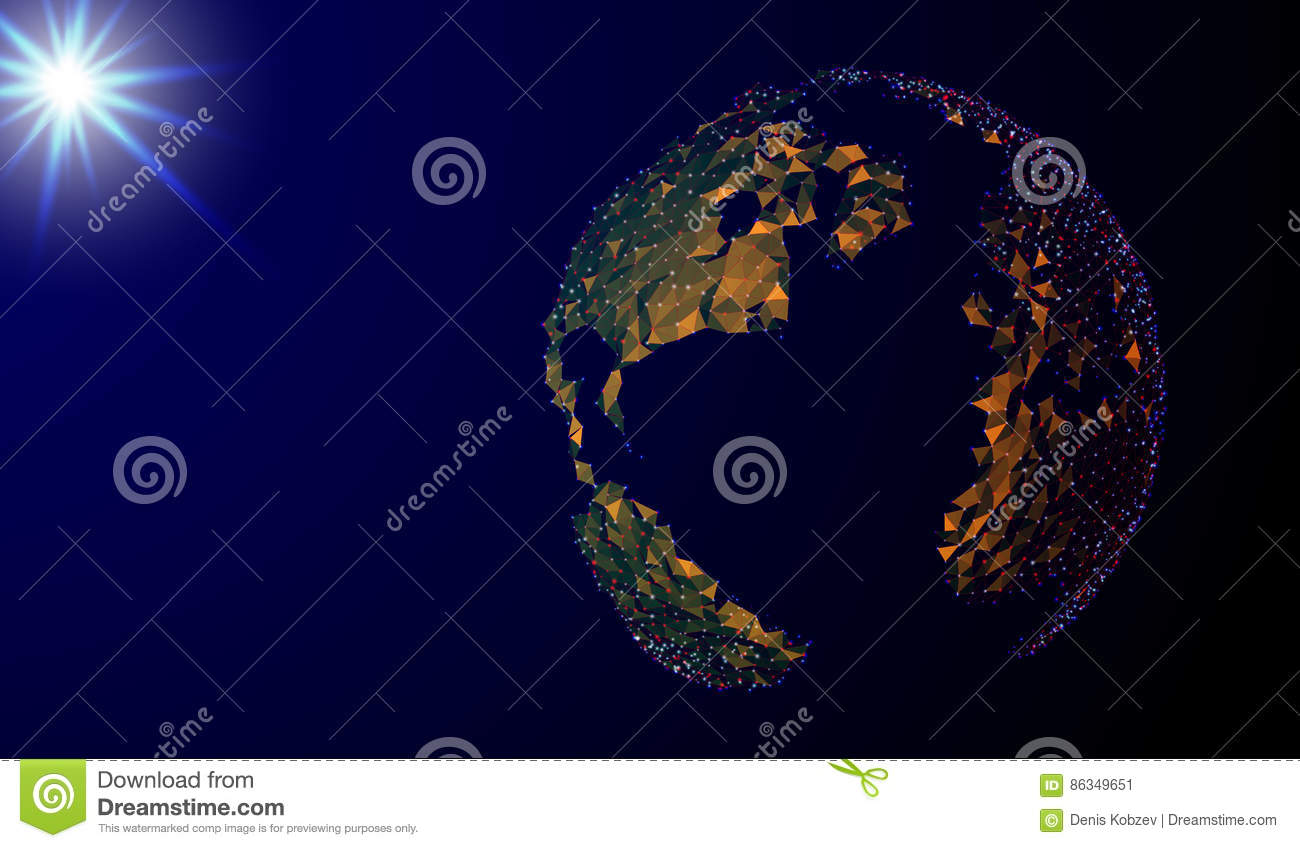 eps 10 abstract image of a planet earth in the form of a starry sky