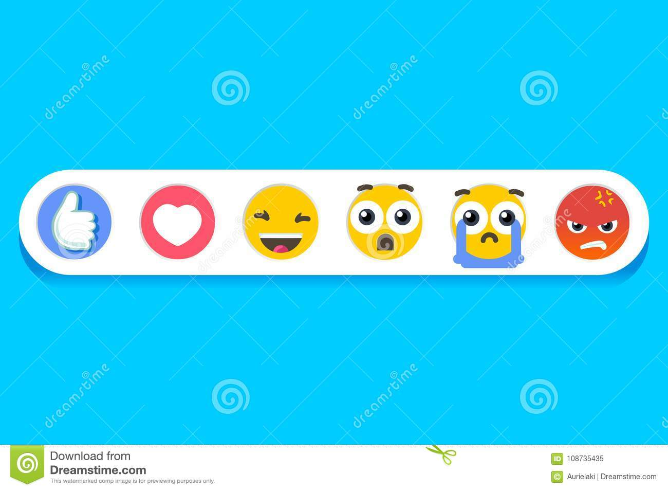 Eps Cheerful Emoticons Vector Emoticons Like Love Stock