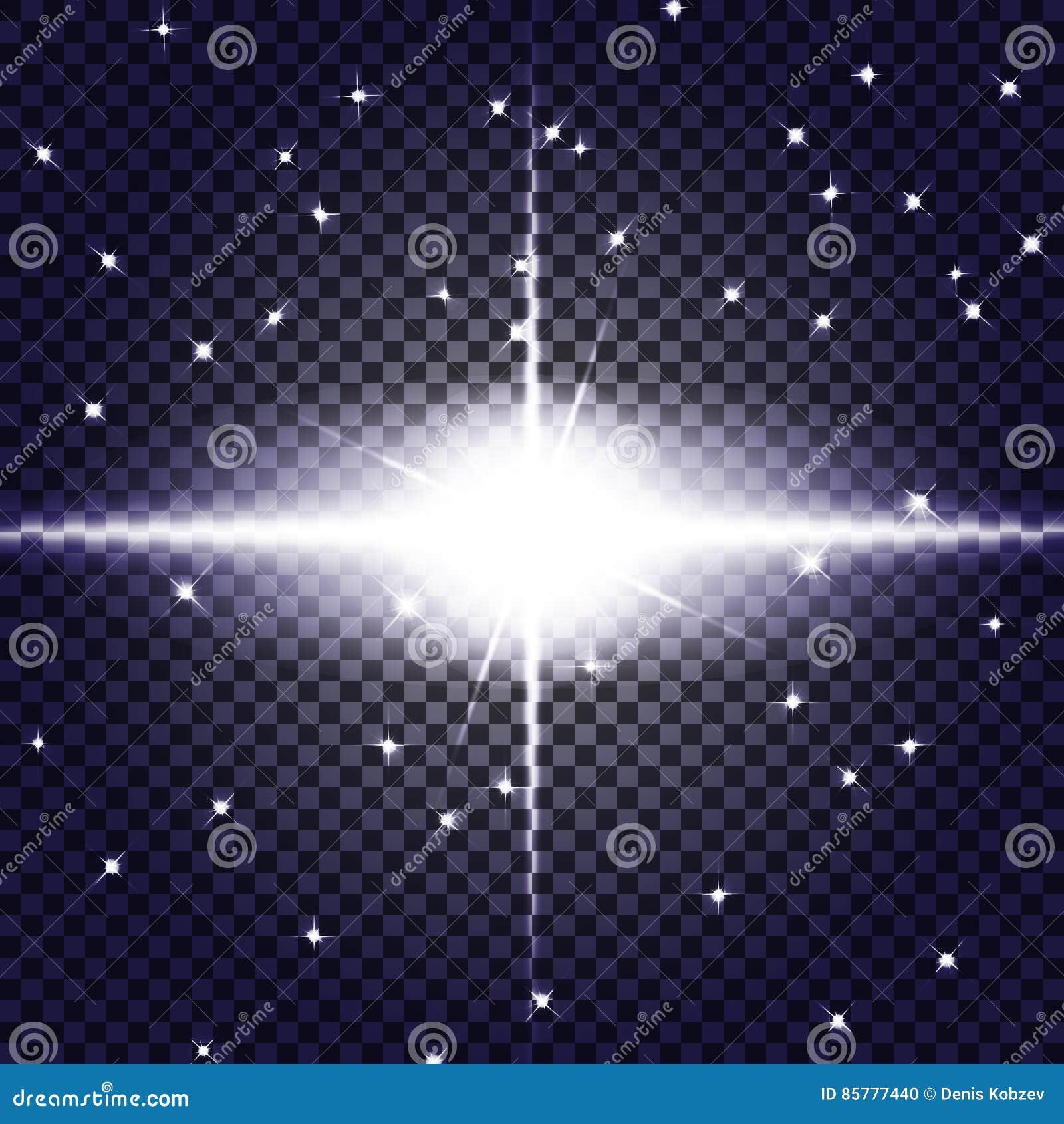 EPS10 Efeito da luz especial do alargamento da lente da luz solar transparente do vetor