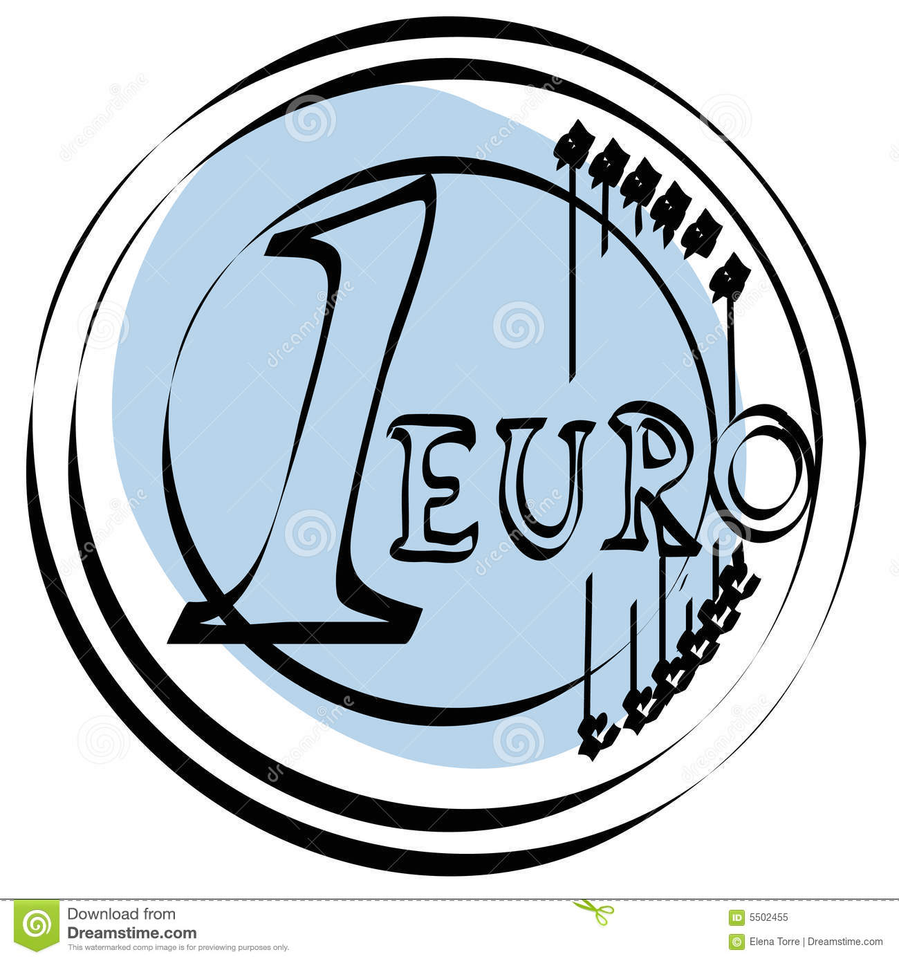 Eps euro file vector